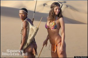 Photos taken from Huffington Post http://www.huffingtonpost.com/2013/02/15/sports-illustrated-racist-exotic-swimsuit_n_2696162.html?utm_hp_ref=mostpopular, as taken from Sports Illustrated